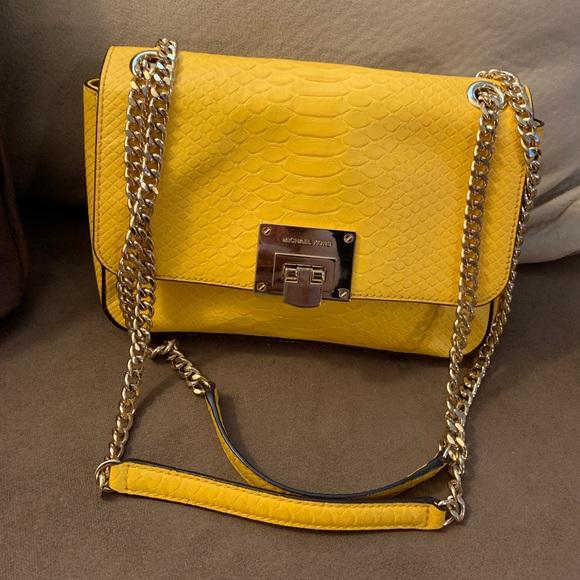 Michael Kors Handbags - Michael Kors Yellow Crossbody or Shoulder Bag
